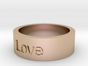 """Love"" Ring in 14k Rose Gold"