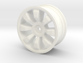 1/10 scale rc car wheel in White Strong & Flexible Polished