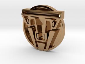 Tomorrowland Movie Dimensional 1984 Pin Replica in Polished Brass
