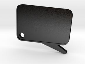 Catchphrase! Custom Keychain in Matte Black Steel