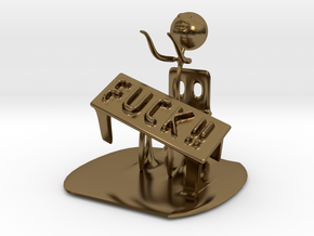 Meme flip a table in Polished Bronze