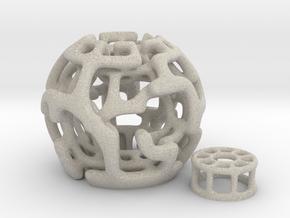 Magic Sphere Tealight Holder in Natural Sandstone