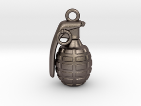 The Grenade Pendant in Stainless Steel