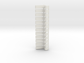 Light Strip Gridwall Brackets (12) in White Strong & Flexible