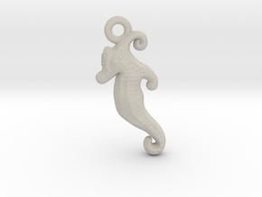 Seahorse Pendant in Natural Sandstone