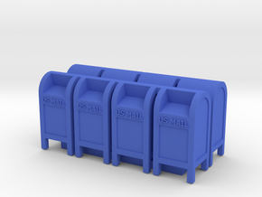 US Mail Box - HO 87:1 Scale (Qty 8) in Blue Processed Versatile Plastic