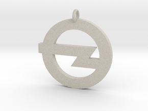 Foo Fighters Logo Pendant 1 (Customizable) in Natural Sandstone