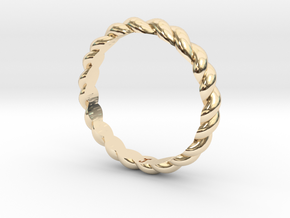 Womans Rope Ring Size 5.5 in 14K Gold