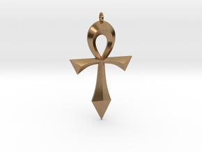 Toschlog Special Swept Ankh in Natural Brass