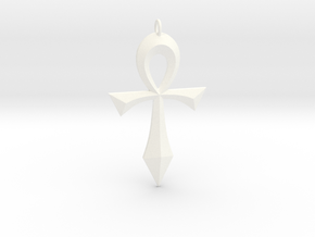 Toschlog Special Swept Ankh in White Processed Versatile Plastic