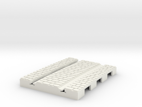 P-165stw-short-curved-r2-tram-track-100-w-3a in White Natural Versatile Plastic
