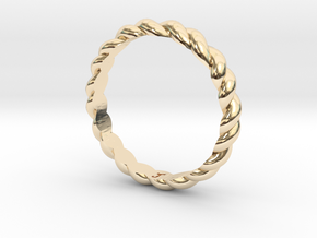 Womans Rope Ring Size 6 in 14K Gold