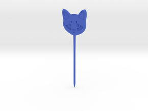Cat Hair Pin in Blue Processed Versatile Plastic