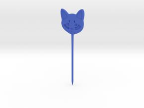 Cat Hair Pin in Blue Processed Versatile Plastic
