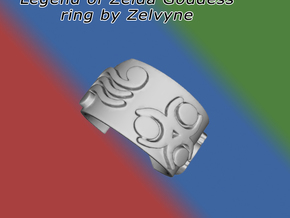 Zelda goddess ring (med/adjustable) in Metallic Plastic