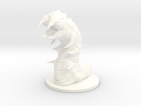 Carrion Worm in White Processed Versatile Plastic