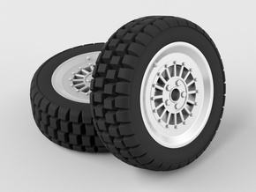 Car Rim for Model Scale 1/24 in White Natural Versatile Plastic