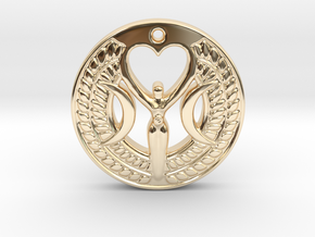 Triple Moon Goddess in 14k Gold Plated Brass