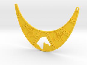 Branded Monogrammed Breastpiece Necklace in Yellow Processed Versatile Plastic