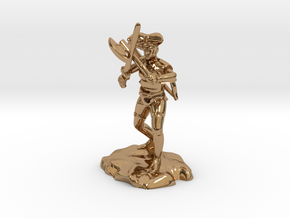 Argrunt the Half Orc Ranger Pirate in Polished Brass