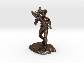 Argrunt the Half Orc Ranger Pirate in Polished Bronze Steel
