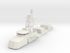 1/72 scale US Navy Cyclone Structure in White Natural Versatile Plastic