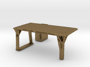 Flexible Table  in Natural Bronze