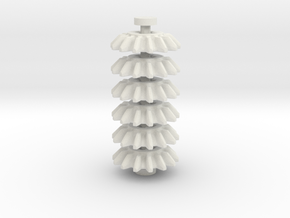 14z Bevel Gear, 6 piece set in White Strong & Flexible