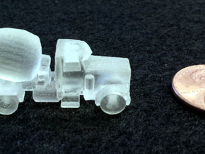 Cement Truck in Smooth Fine Detail Plastic