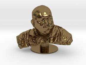 St. Rasmus, the patron saint of Internet in Polished Bronze