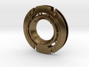 Disk Pendant: Tritium, Part 1 of 2 in Natural Bronze