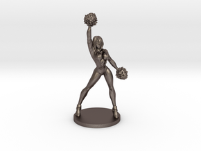 Cheerleader #1 for Slaughterball in Polished Bronzed Silver Steel