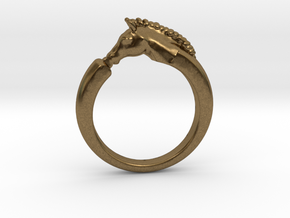Horse Ring in Natural Bronze