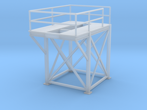 'S Scale' - 8' x 8' x 10' Tower - Top in Smooth Fine Detail Plastic