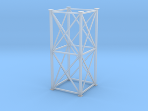 'S Scale' - 8' x 8' x 20' Tower in Smooth Fine Detail Plastic