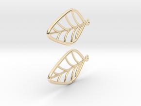 Leaf Earrings in 14k Gold Plated Brass