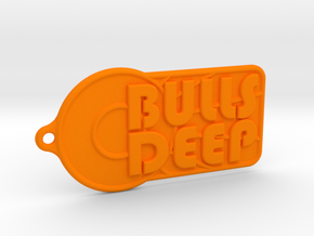 Bulls Deep - Team Keychain in Orange Processed Versatile Plastic