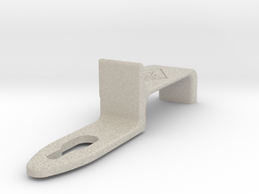 The Deluxe WAW Modified Thumb Rest for Saxophone in Natural Sandstone