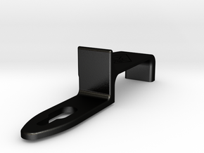 The Deluxe WAW Modified Thumb Rest for Saxophone in Matte Black Steel
