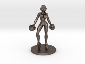 Cheerleader #2 for Slaughterball in Polished Bronzed Silver Steel
