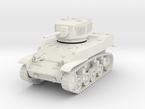 PV91A M5A1 Light Tank (28mm) in White Natural Versatile Plastic