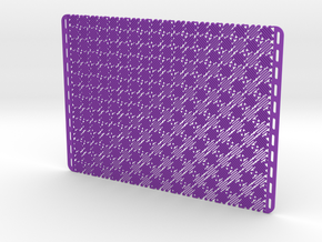 Mesostructure Fabric Sample (Square) in Purple Processed Versatile Plastic