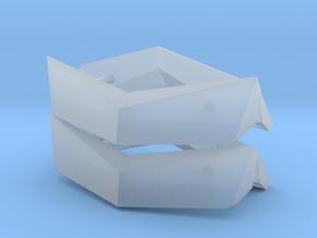 1/50th Peterbilt visors in Smooth Fine Detail Plastic