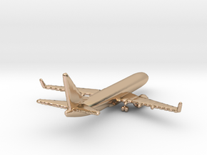 Boeing 737-800 in 14k Rose Gold Plated Brass