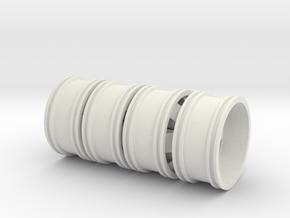 62x20 Rim 4 Piece set in White Natural Versatile Plastic