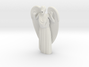 Weeping Angel Attacking in White Natural Versatile Plastic