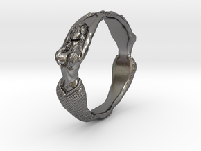 The Lady from the Sea bangle  in Polished Nickel Steel