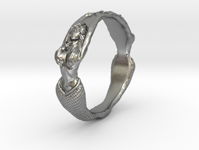 The Lady from the Sea bangle  in Natural Silver