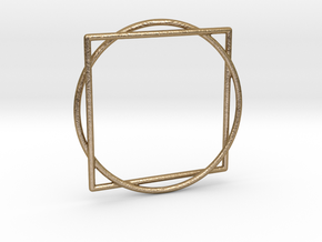 Squaring the Circle / Quadratur des Kreises in Polished Gold Steel