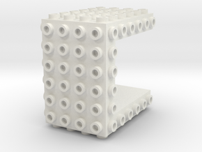 Core Brick 6x6x4 - Beta 01 in White Natural Versatile Plastic